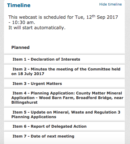 West Sussex planning committee agenda september 12th 2017