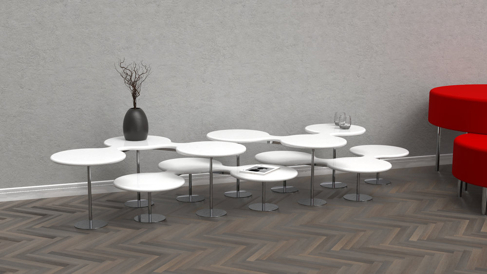 Any number of tables can be arranged together. The possibilities are infinite!