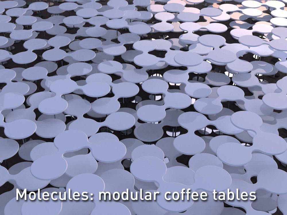 Molecules Coffee Tables