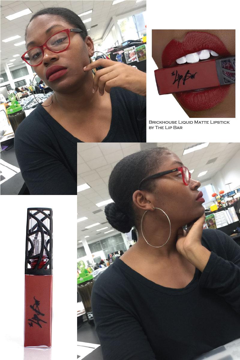 October 2018 recap where Fashion Designer and Illustrator Delaya Briscoe, talks about The Lip Bar's Brickhouse liquid matte lipstick.