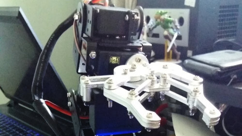 Robot Arm - Control of a small 6-axias servo arm via C#