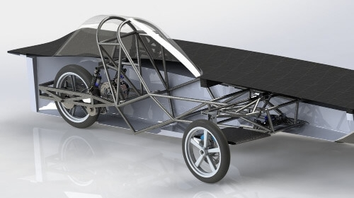 UBC Solar - Design of mechanical systems in a solar powered vehicle
