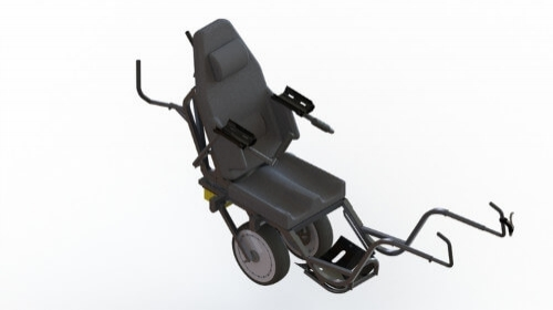 TrailRider - Design for a supervised off-road vehicle for disabled persons.