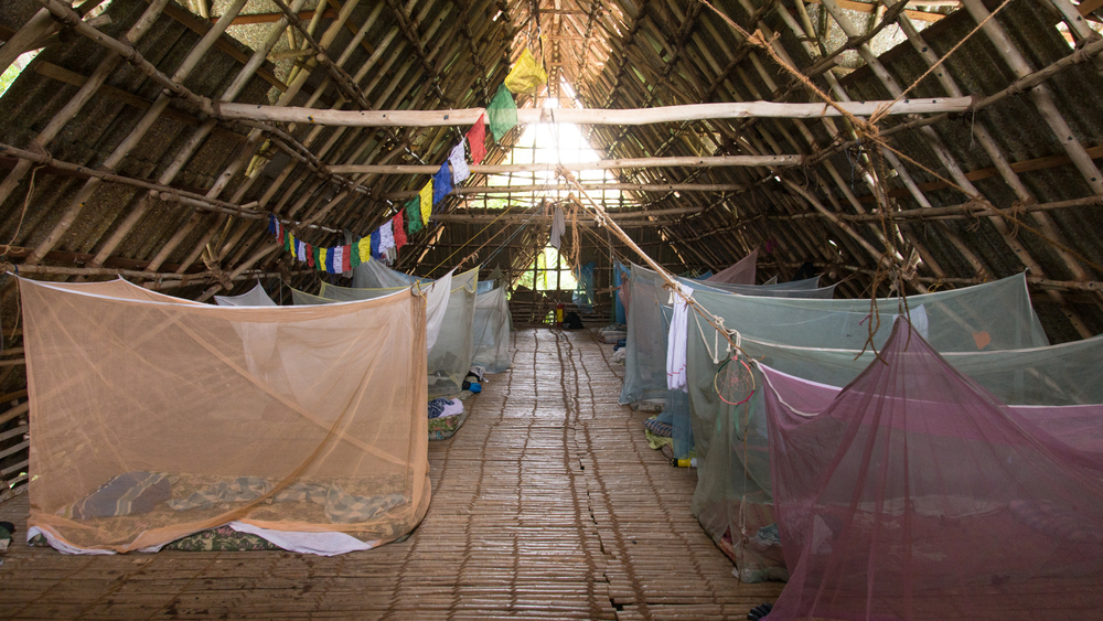 The dormitory houses about 40 volunteers.