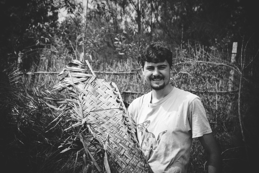 Josh from the UK, a farmer by heart, he has been volunteering across the globe for some time now.