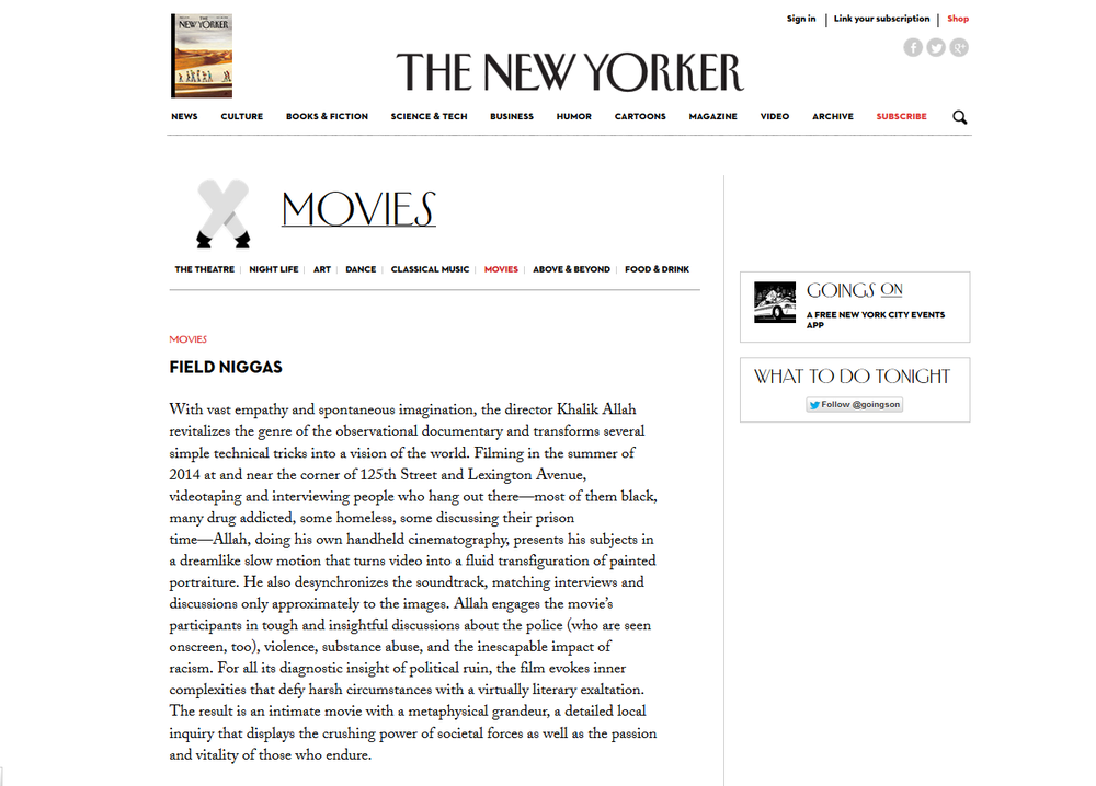 The New Yorker Film Review