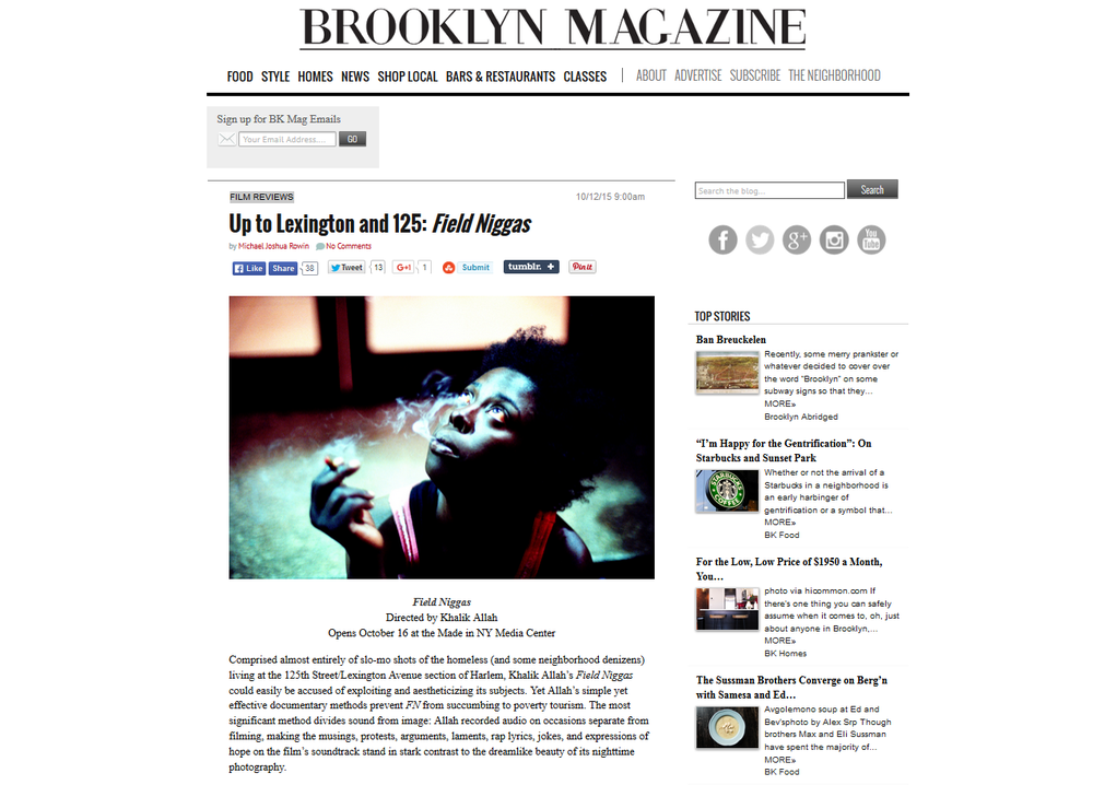Brooklyn Magazine Write-Up