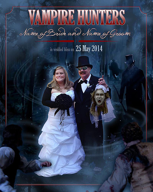 Vampire Hunter wedding photo