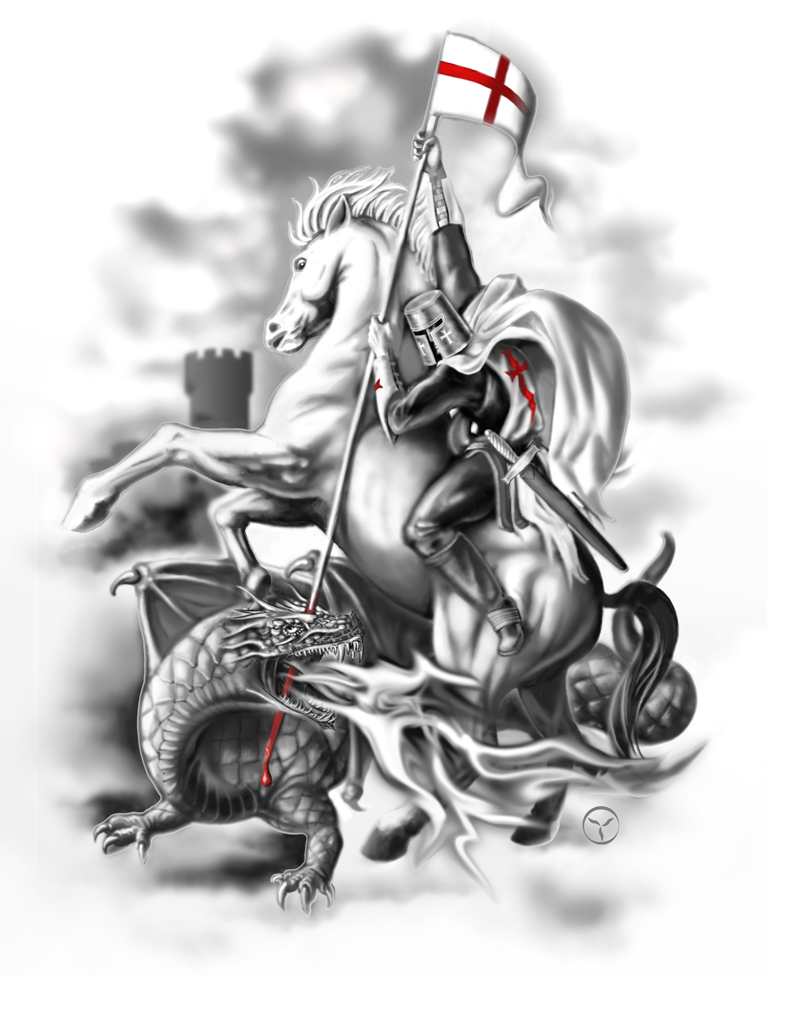 Knight of Templar as St. George