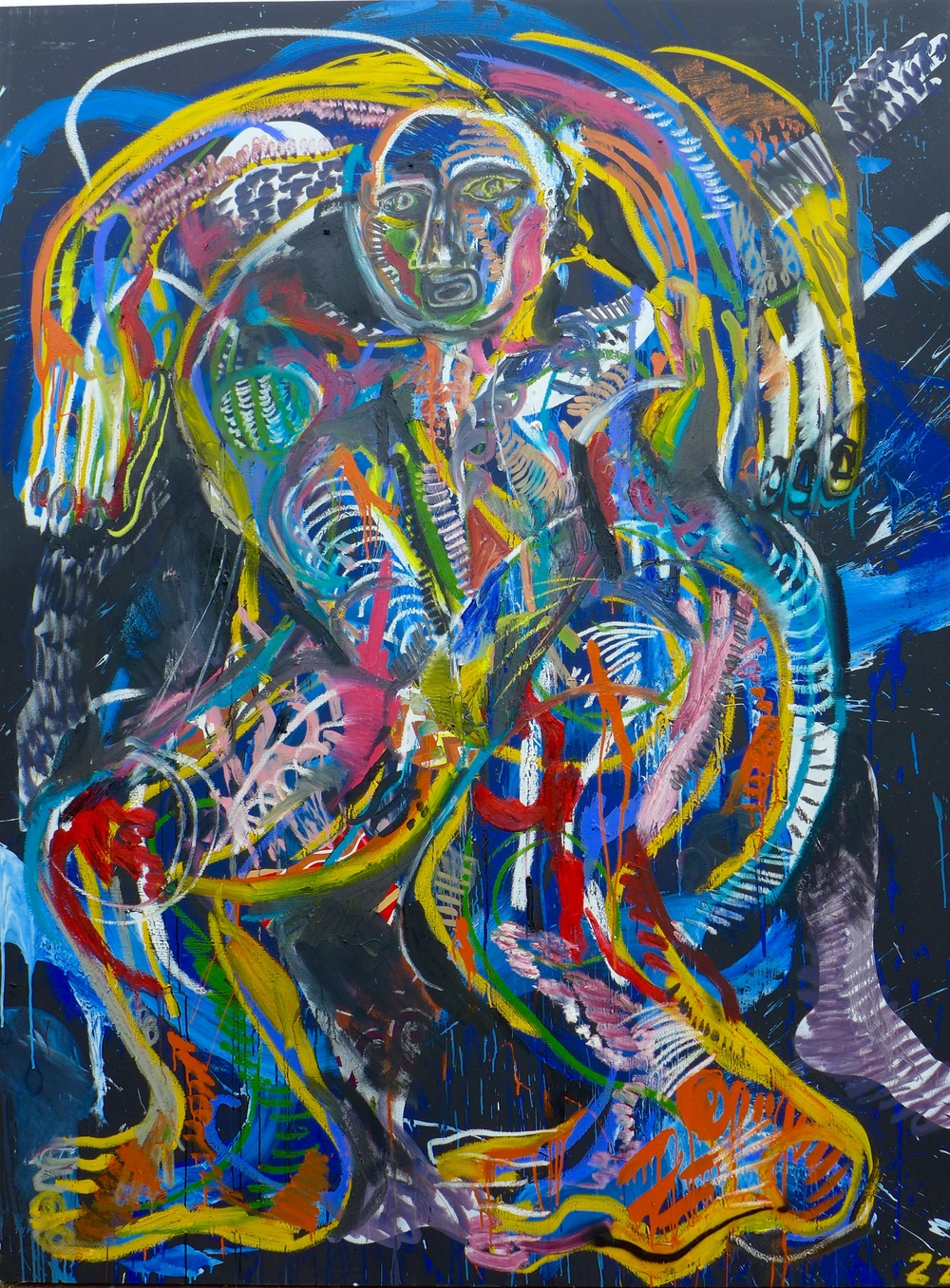 Zio Ziegler Borders of Consciousness 72 x 96 x 1.5 inches Oil and House Paint on Canvas