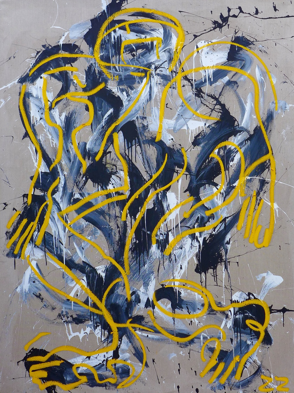 Zio Ziegler MOTION 2 72 x 96 x 1.5 inches Oil and House Paint on Canvas SOLD