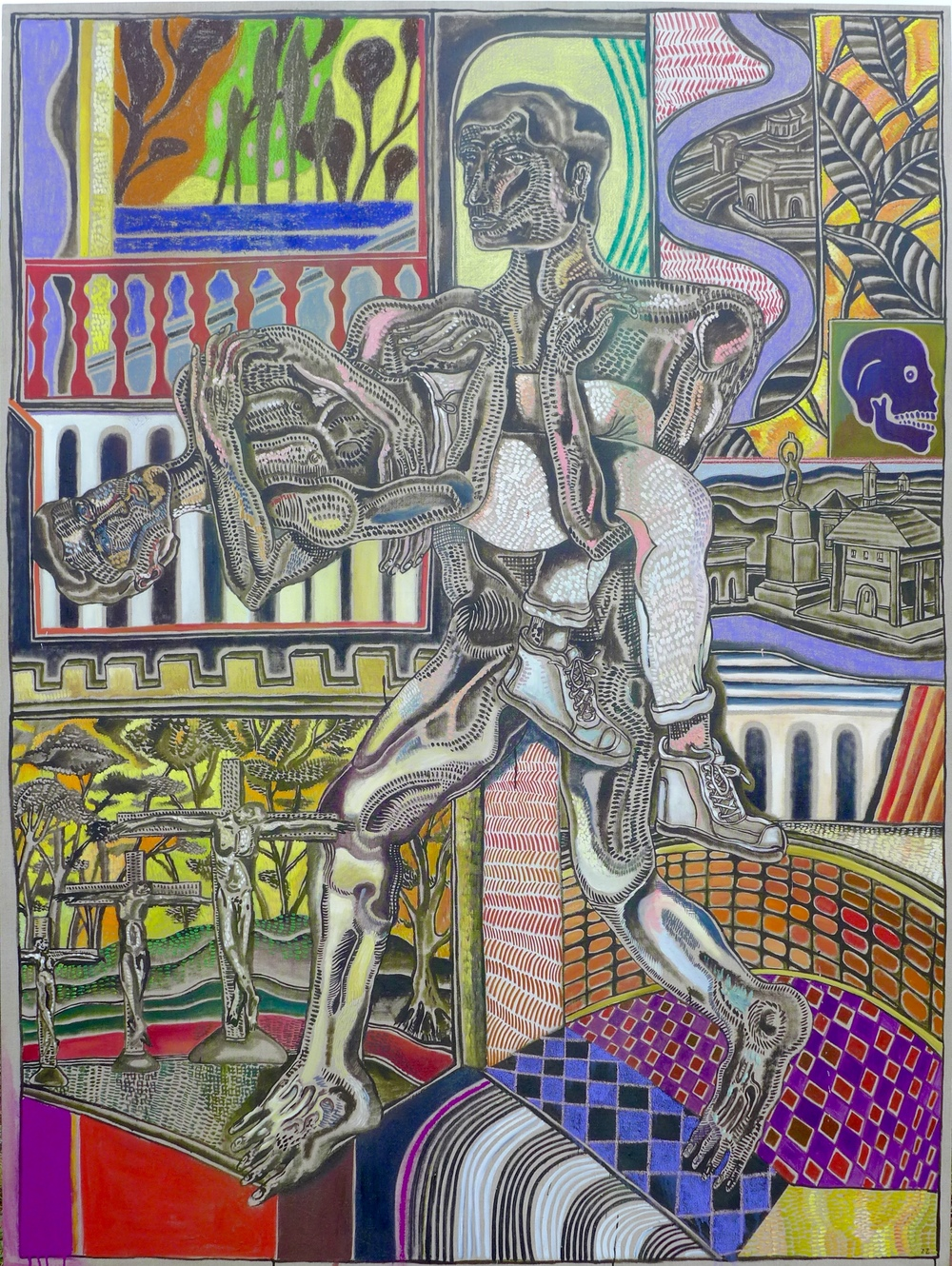 Zio Ziegler MY PIETA 72 x 96 x 1.5 inches Oil and House Paint on Canvas SOLD