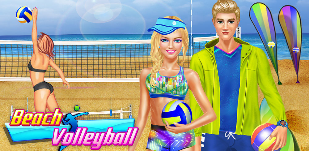 Sporty Girls: Beach Volleyball  Summertime means a whole new range of fun sports to play in the hot, hot sun! You've been selected to join the professional volleyball team this summer, so it's time to show off your skill.
