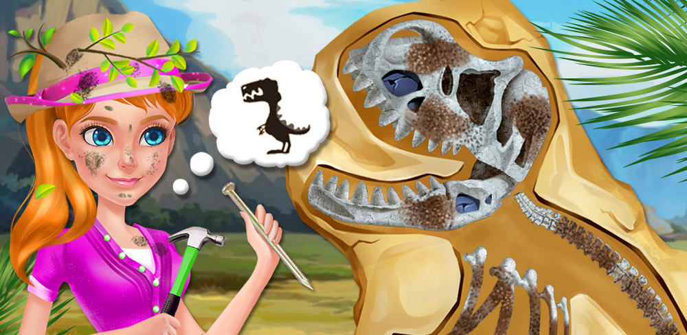 Explorer Girl: Dino Fossil Lab  It's time to leave the big city behind and follow your dreams! There's a big dig outside the city, and now's your chance to learn how to be a paleontologist like you've always wanted.