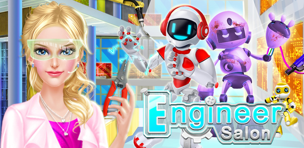 Engineer Girls Cyber Adventure  Have you ever wanted to make all those cool robots they use in space? Robotic engineers like you work hard to use their knowledge of science and safely send astronauts to and help astronauts in space.