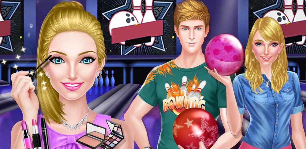 Bowling Date - Love Strikes!  The cutest boy at school asked you out on a date today! You're suppose to meet him at the bowling alley tonight, and with such short notice, you're going to need help to get ready on time!