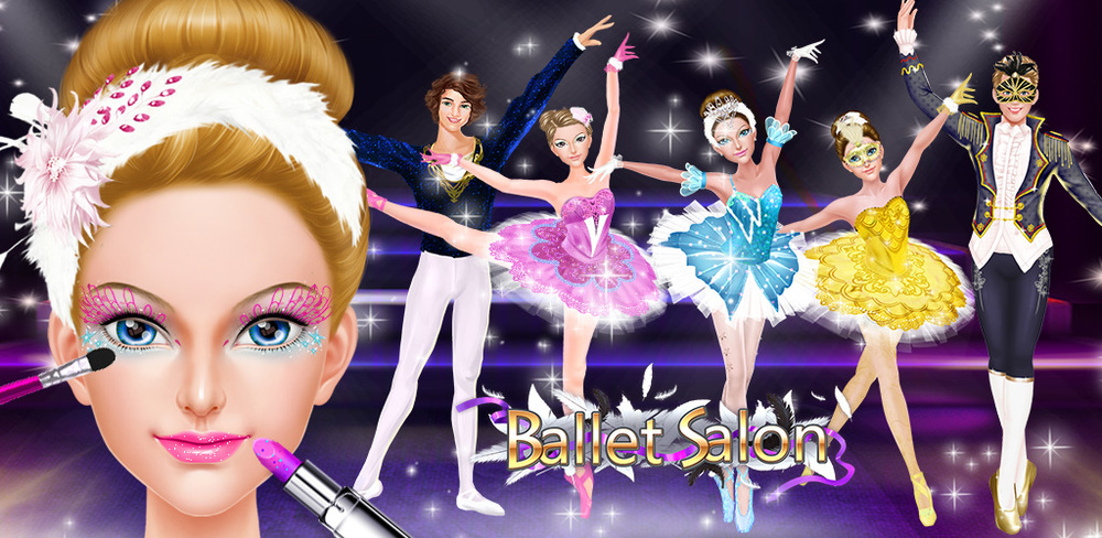 Ballet Dancer: Show Time Salon  It's time to step out on stage, dress up like a swan beauty, and show your dance moves to the world! Ballet Salon is an amazing dress up and makeup game that lets you turn ordinary princesses and princes into swan beauties!