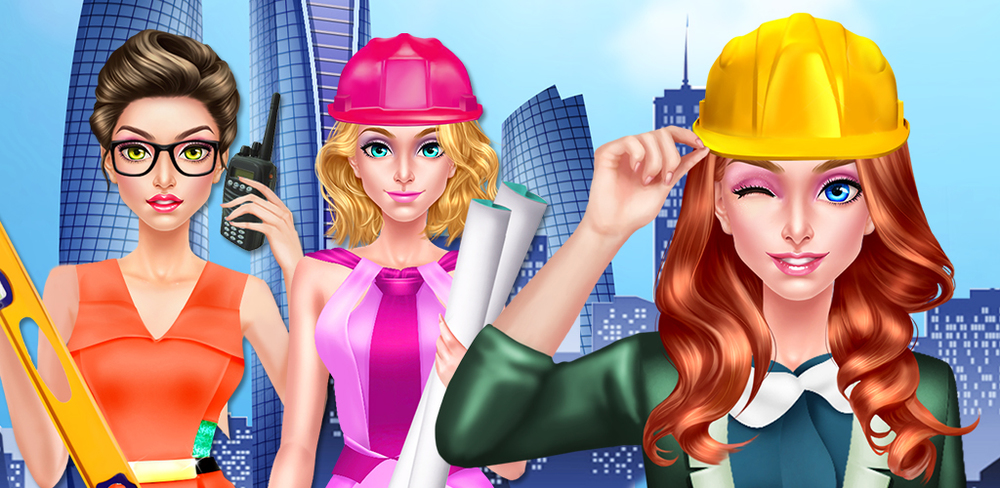 Dream Builder: Architect Girls  Architects have a very neat job: they design all the cool buildings you see! You've just finished school for architecture, and you start your dream job today. Lets get ready and design the best buildings around!