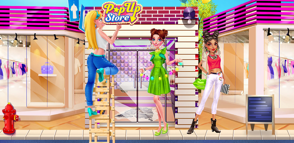 Fashion Salon Pop Up Store  As the fashion designer for own your pop-up fashion boutique, you need to create your signature runway collection to create buzz. Are you ready to put your fashion skills to the test?