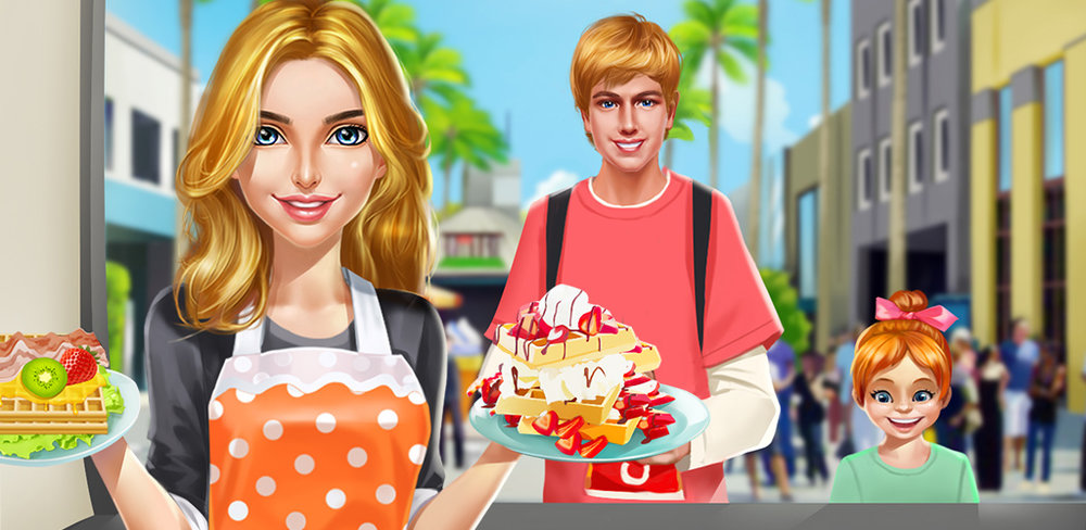 Sweet Couple Food Truck Salon  You and your chef boyfriend are going to put your food knowledge to work for you by buying your own food truck! Are you ready for a romantic business idea to take off?