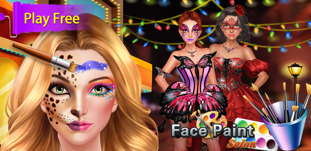 Face Paint Beauty SPA Salon  Design your own cool, funny, cute and chic face doodles with this amazing face painting app! Kids can create their own funny party designs from scratch, then paint pictures using a variety of themes.