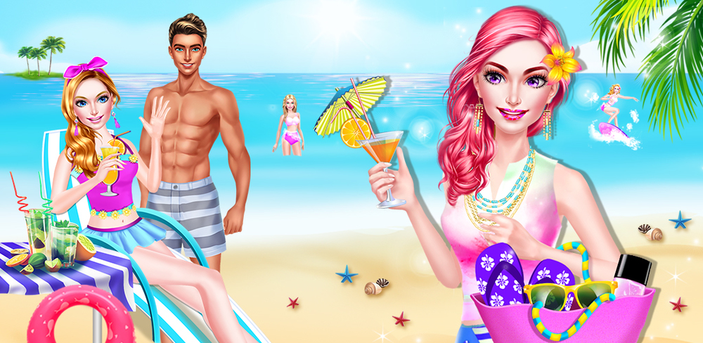 Summer Girl! Beach PARTY Salon  Summer break is here! Time to DIY your bikini and have a CRAZY pool side party!