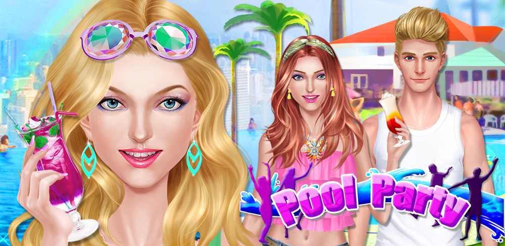 Fashion Girls Pool Party Salon  Summer is here and you've been invited to the biggest pool party in town! The boys will be there splashing and having fun, and it's the perfect time to show off your beauty to win one's heart!