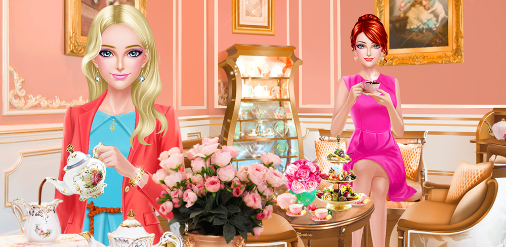BFF Salon - Tea Room Party  Get ready for a proper delicious tea time with your BFF in this fun makeover and dress up game themed around English Tea Time.