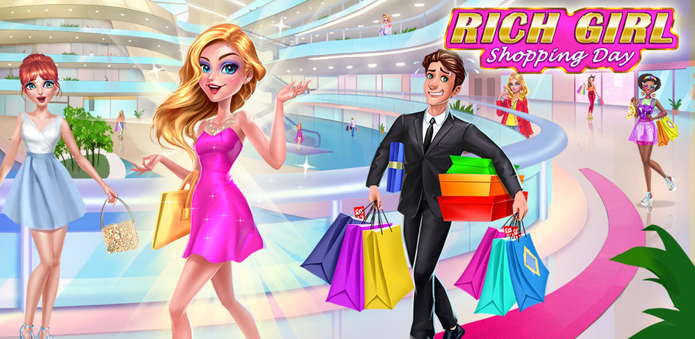 Rich Girl Shopping Day  There's a new shop in town! they have tons of designer dresses, shoes and bags.Get ready for a shopping spree like no other!