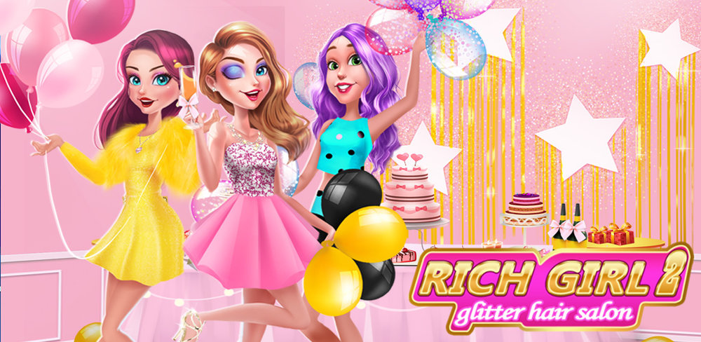 Rich Girl 2: BFF Shopping Day  Live a life of luxury and have fun with your multimillionaire friends! Go to a charity ball, and have a hairstyle suits the rich girl!! Go shopping buy some gorgeous outfits! Create an amazing, shimmery glitter looks for the charity ball. Rich girl beauty is a high-society girl who never leaves the house without makeup!