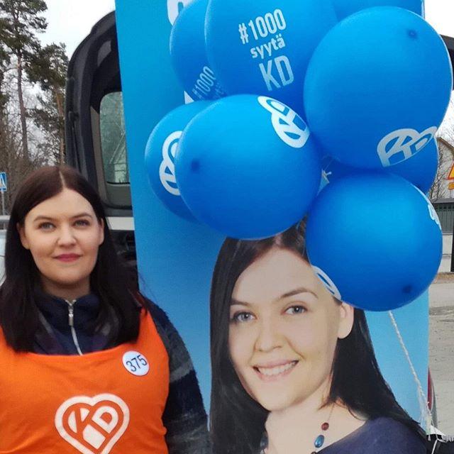 Kohti vaaleja, mäntsäläläisiä tavattu 😊 #eduskuntavaalit #mäntsälä
