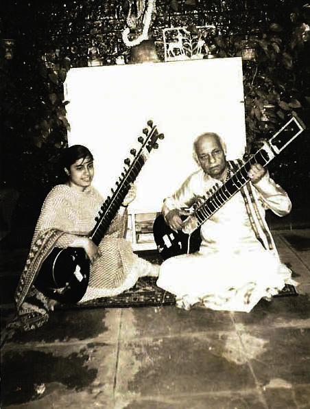 Anupama practicing with guruji