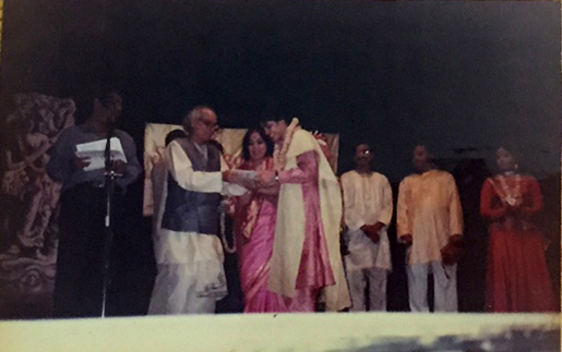 Awarded 'Surmani' by Pandit Jasraj & Sitara Devi in 1995