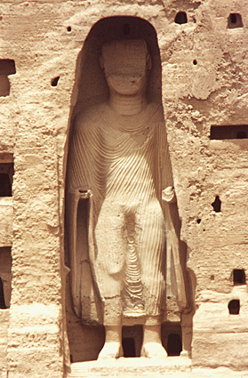Before its destruction: One of the Buddhas of Bamiyan