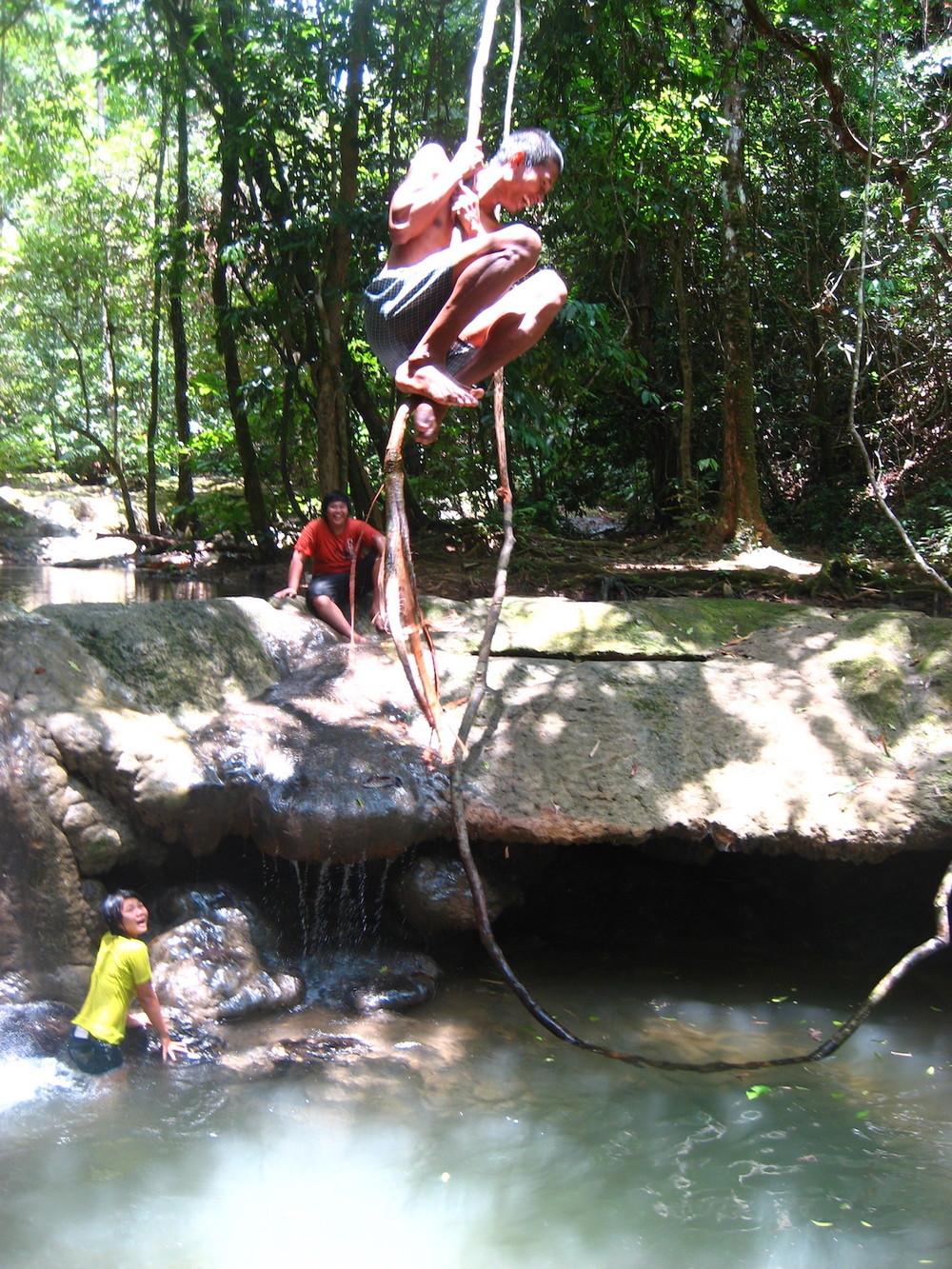 Pic: Local Thais enjoying bathing pools in Sa-Nang Manora Forest Park, Phang-Nga Province