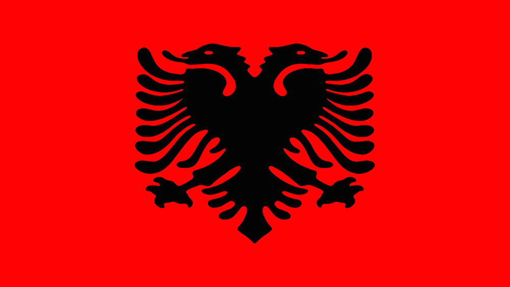 "Pic: Patriotism - Despite not qualifying for Euro 2008, Albania, the ""Land of Eagles"" has a pretty fearsome national flag - (""FreeImages.com/Bensik Imeri"")"