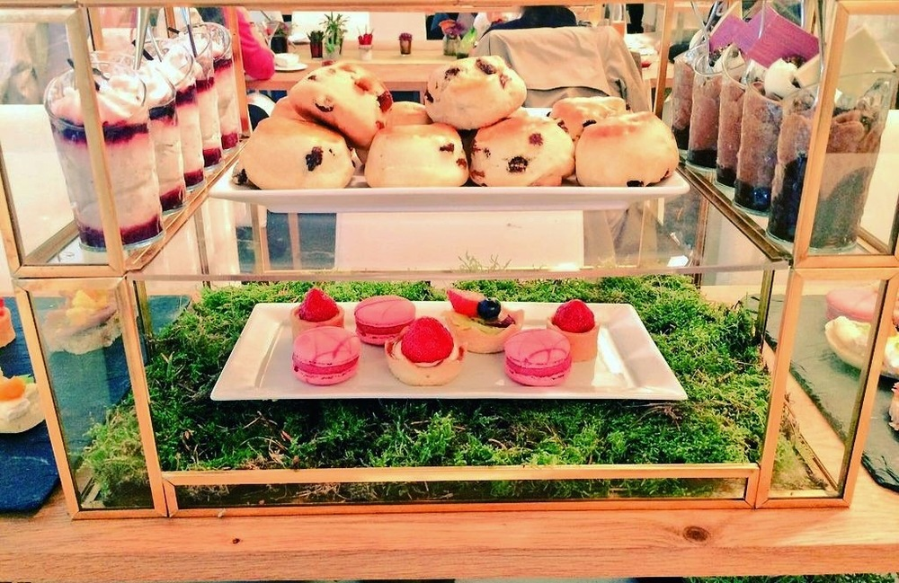 Food was presented in specially created terrariums.