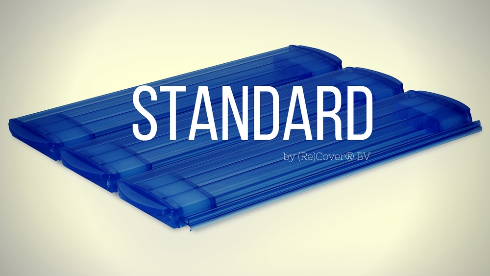 Dimensions : Width: 60 mm,  Height 14 mm.  Design : 3 chambers and a double hook connection   Material:   PVC en Polycarbonate  Colors : Several Solar  versions and opaque colors like white, grey, blue.      Applications :  For all onground and inground roller systems the ideal pool cover slat for both new construction and renovation projects.   Read more...........