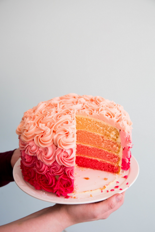 Ombre Rose Cake Icing