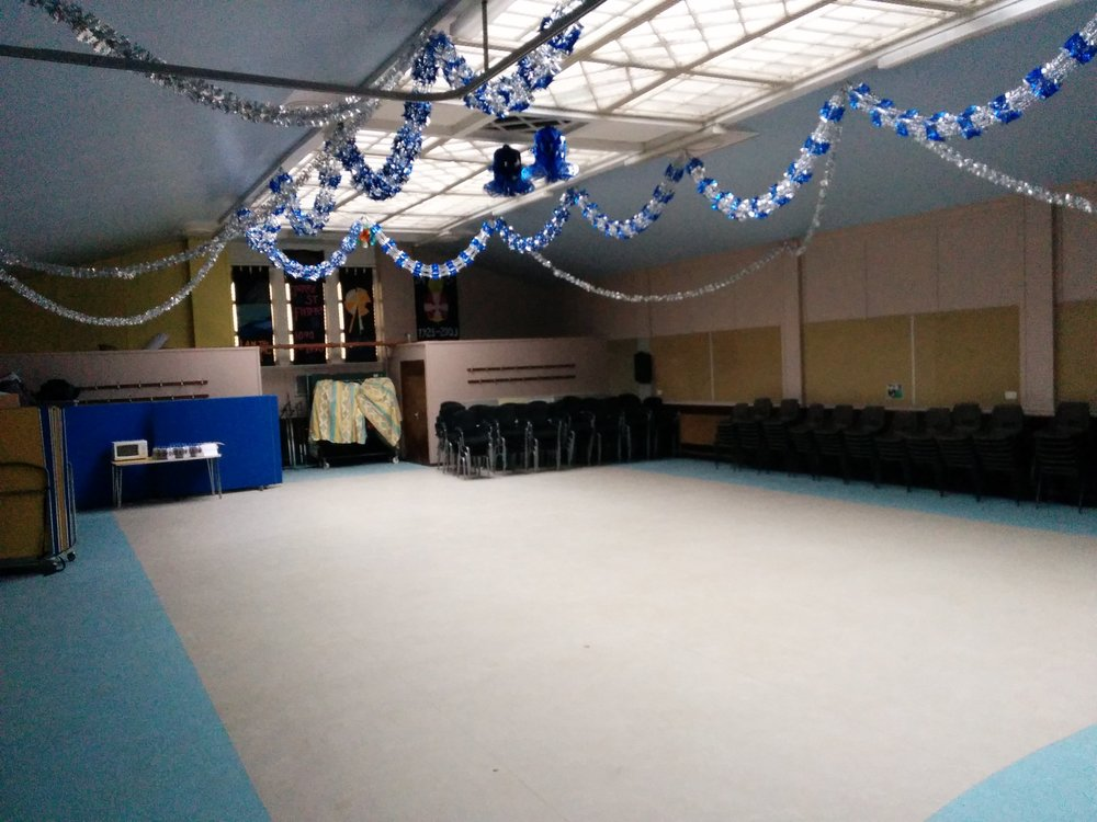 spacious and flexible hall space with stage