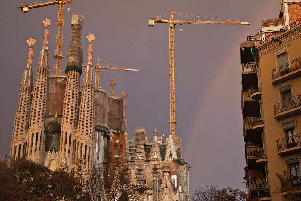 Rainbow Over La Sagrada Família
