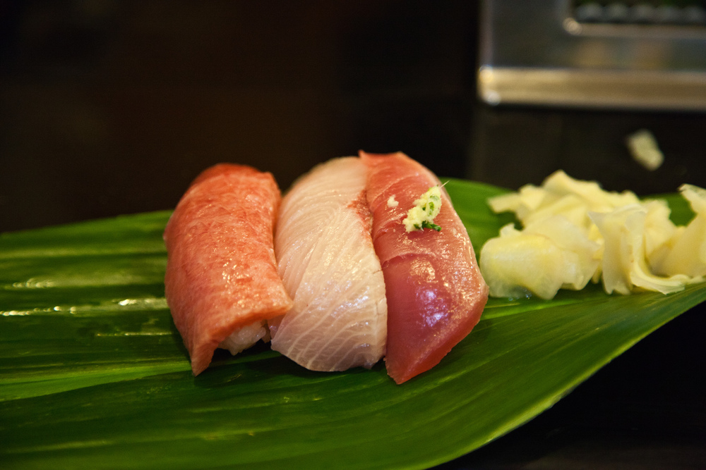 A number of tiny sushi restaurants operate on the edges of the market, selling the freshest sushi breakfasts.