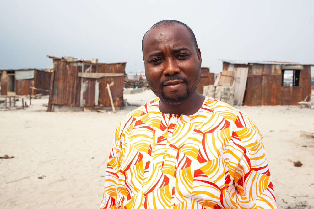 Samuel is a member of the Nigerian Slum / Informal Settlements Federation, a grassroots movement of the urban poor. The Federation work to solve justice and development problems in Nigeria, including fighting for a security of tenure.