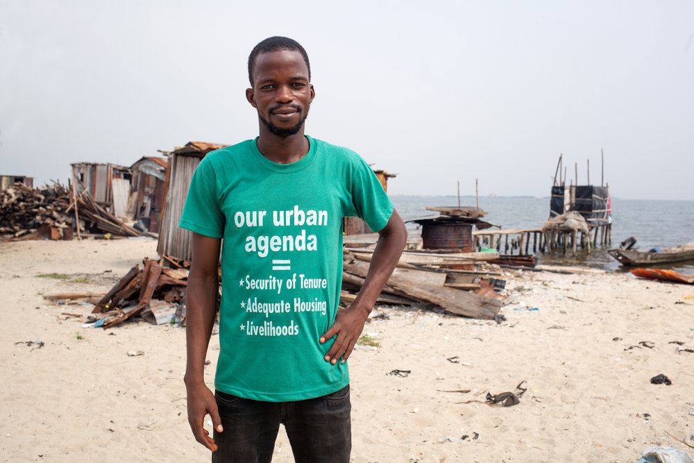 Paul is a Federation member and one of their many community-based trained para-legals. As a resident of Otodo Gbame, he is helping the struggle for the legal recognition of the right for the community to live on their land.