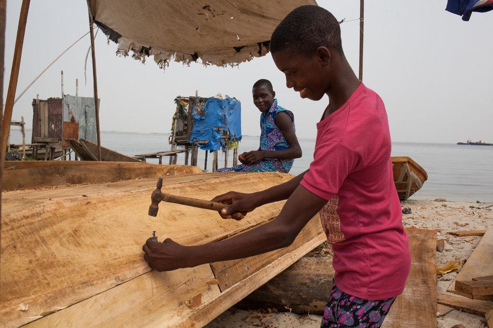 Fishing provides the main source of livelihood amongst residents.