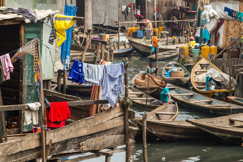 An estimated 2,000 people enter Lagos every day, many ending up in informal settlements like Sogunro.
