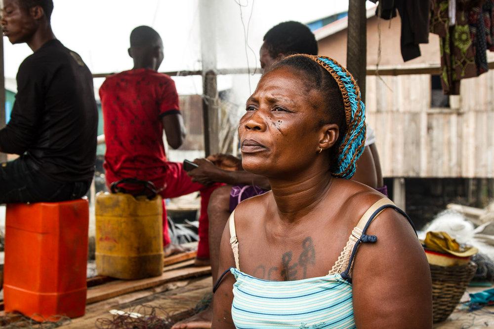 Janet Azindji accommodated twenty people from Otodo Gbame, including eight children.