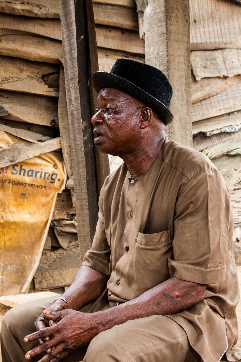 Agban Aplanti, a community elder.