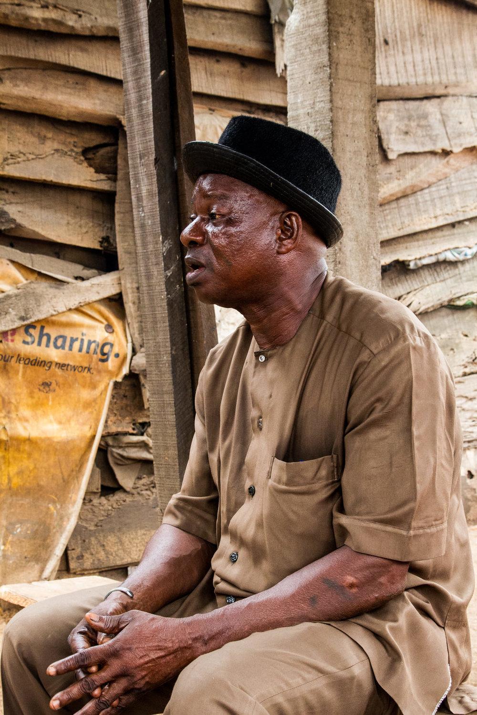 Agban Aplanti, a community elder.