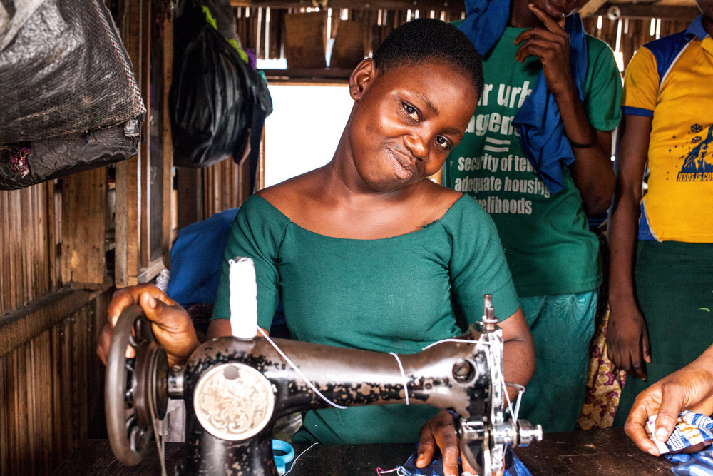 Gerard owns and runs a tailoring school in Sogunro.